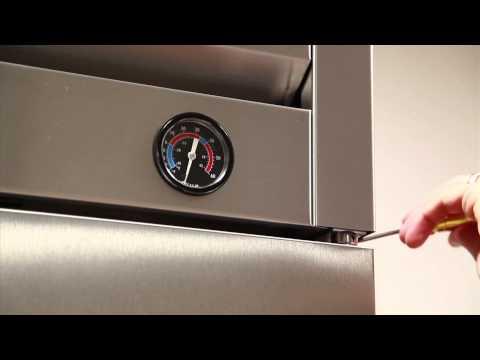 Upright Refrigerator and Freezer Swing Door Tension Adjustment
