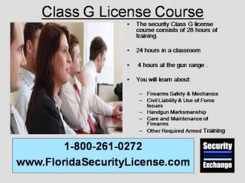 Class G Security License Fort Lauderdale