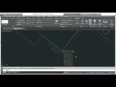 Creating Easting and Northing Coordinates in AUTOCAD2017