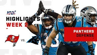 Panthers Defense Racks Up 2 Sacks, Holds Winston to 208 YDs | NFL 2019 Highlights