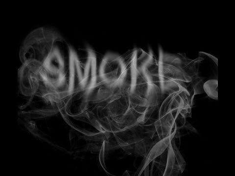 How to create a SMOKE TEXT in Adobe photoshop