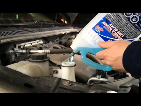 Windshield Wiper Fluid Smooth Pouring Life Hack