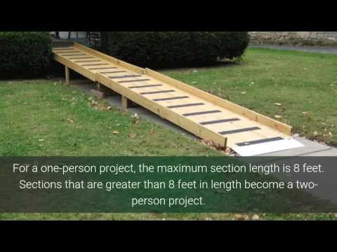 Build a Wheelchair Ramp Yourself...free design support