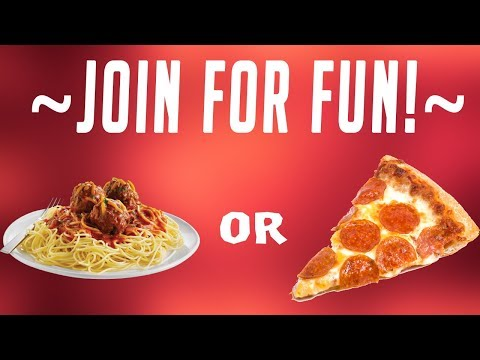 Pasta VS. Pizza! What do you like better? Join The Stream To Hear Some Juicy Stories, Ask Questio