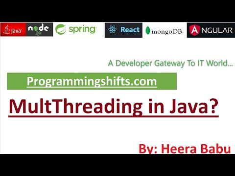 Multithreading TUTORIAL IN JAVA