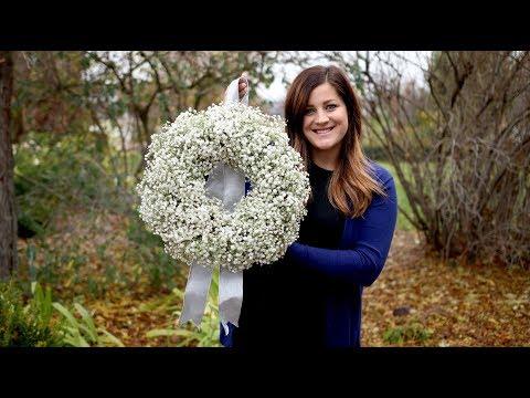 DIY Baby's Breath Wreath ✨🌿 💜 // Garden Answer