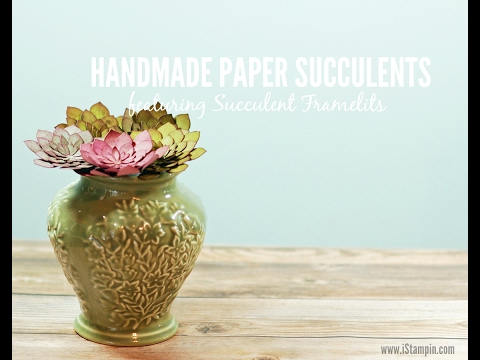 Handmade Paper Succulents