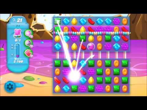 Candy Crush Soda Level 24 *Get the bear above the candy string*