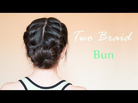 Two Braid Bun | hairdo for everyday and special occasion