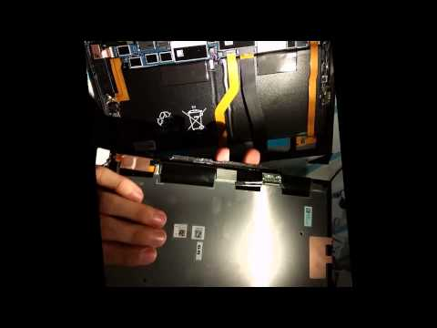 How Sony XPERIA Z2 Tablet LTE SGP521 screen replacement 2015