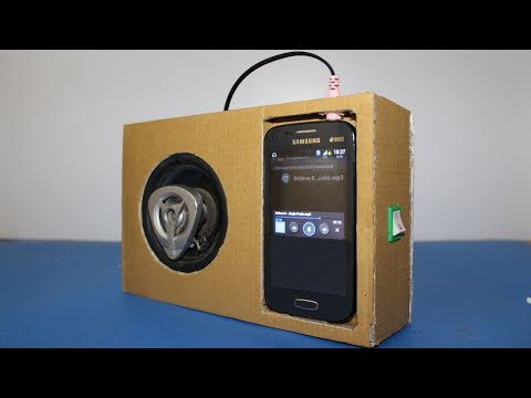 How to Make a Speaker Amplifier from Cardboard for Phone