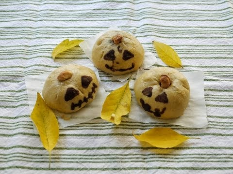 How to make Easy Red Bean Bun without yeast 紅豆包作法 (Halloween recipe)