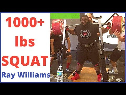 Ray Williams Powerlifter 2018 -1000+ lbs Squat (Warm Ups Included)