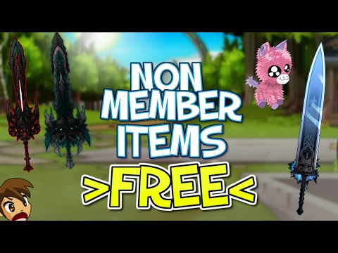 =AQW= How to get EPIC FREE Non-Member items - BEST LIST OF 2016