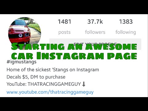 Vlog - STARTING AN AWESOME INSTAGRAM CAR PAGE