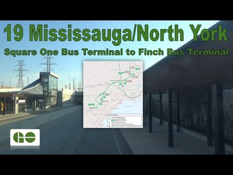 19 Mississauga/North York - GO Transit 2017 ADL Enviro500 8378 (Square One to Finch Terminal)