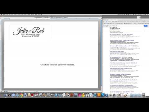 Import a pdf into a Word Envelope Template