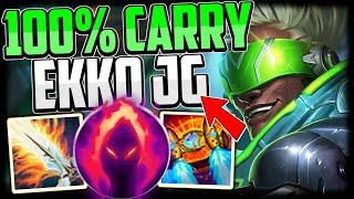 How to CONSISTENTLY CARRY With EKKO JUNGLE + Best Build/Runes Season 11 Ekko Guide League of Legends