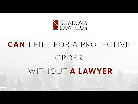 Can I file for a protective order without a lawyer?