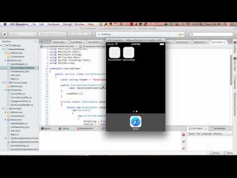 Building data-driven applications for iOS in C#
