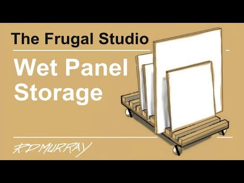 How to make a wet painting panel storage cart