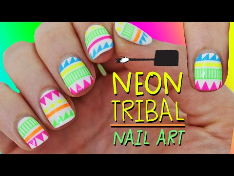 NEON TRIBAL NAIL ART (I cheated) | Nailed It NZ
