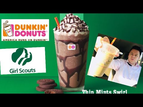 DUNKIN DONUTS THIN MINTS GIRL SCOUT COOKIES DRINK REVIEW