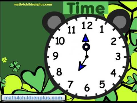 Telling time at half past or thrity minutes past on analogue clocks. e.g. 12:30, 1:30 etc