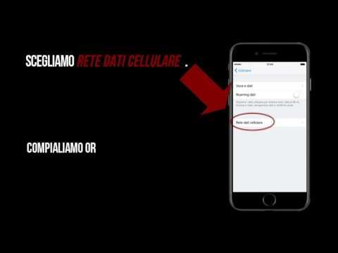Vodafone configurazione apn internet iPhone7