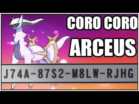 Obtaining Arceus CoroCoro Event + Arceus Movesets