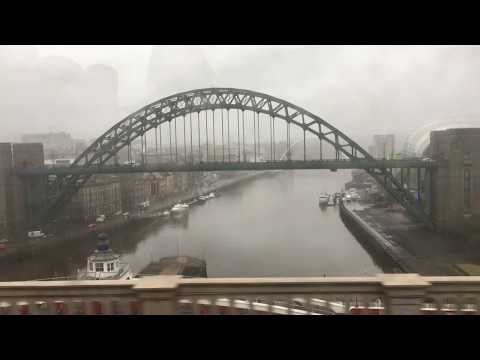 Crossing the High Level Bridge from Gateshead to Newcastle-Upon-Tyne, England - 19th February, 2018