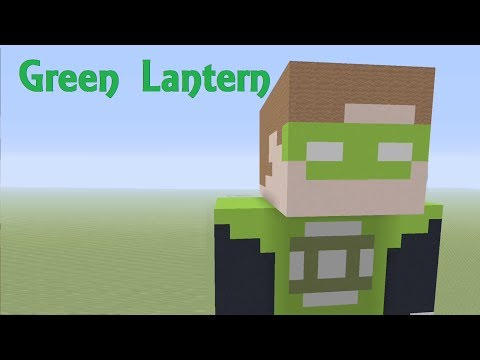 Minecraft | How to Build a Green Lantern Statue