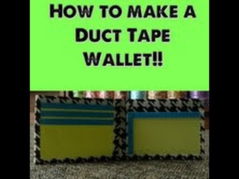 How to Make a Duct Tape Wallet!!