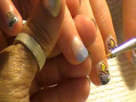 Butterfly nail art by Freeda Latham