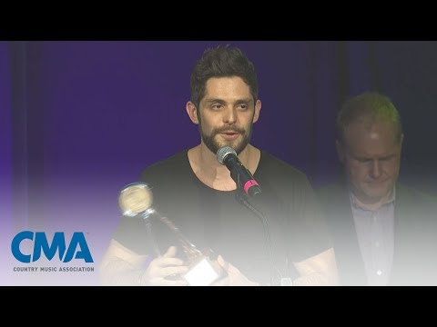 Thomas Rhett Accepts CMA Triple Play Award | CMA