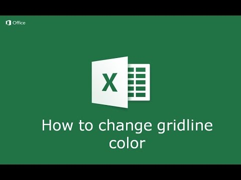 How to Change Gridline color in Microsoft Excel