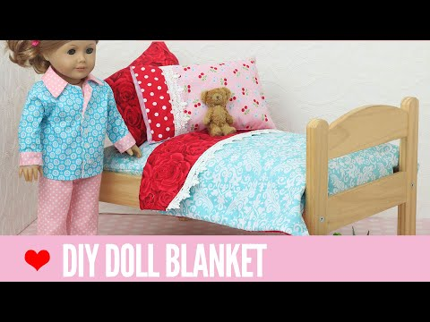 Doll Blanket Pattern for 18 inch Dolls - Easy for Beginners