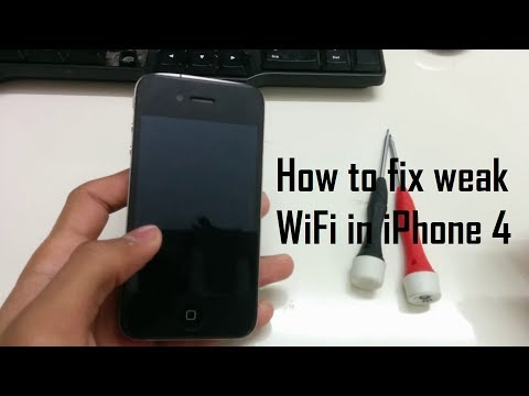 How to fix weak WiFi signal on iPhone 4