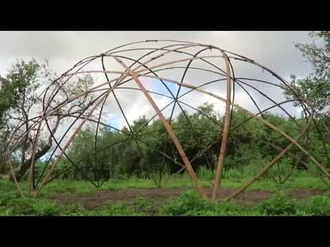 Amazing bamboo geodome made in a simple way