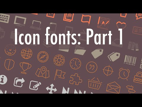 Make icon fonts: Part 1