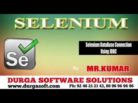 Selenium DataBase Connection Using JDBC