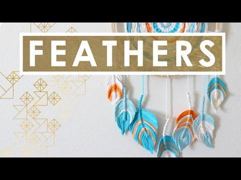 How to Craft FIBER FEATHER DREAMCATCHER   Summer Knit Series