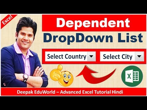 How To Create Dependent  Drop Down List In Excel || Best Video || Hindi || HD