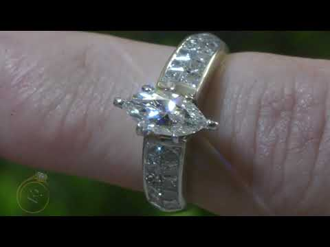 Oval Diamond Engagement Ring Baguette Channel Set Side Stones in Platinum 2 ctTW