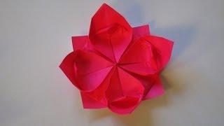 Easy origami kusudama flower music jinni origami how to make a lotus flower mightylinksfo Choice Image