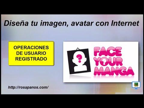 FACEYOURMANGA (3) operaciones usuario registrado, diseña tu imagen (HD con subtitulos)