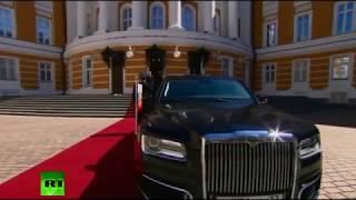 """Путин приехал на инаугурацию на российском лимузине """"Кортеж"""""""