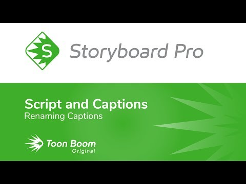 How to Rename Captions with Storyboard Pro