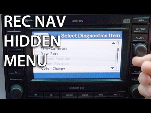 How to enter hidden diagnostics menu in REC Navi (MOPAR Dodge Chrysler Jeep GPS)