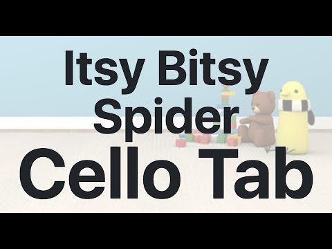 Learn Itsy Bitsy Spider on Cello - How to Play Tutorial